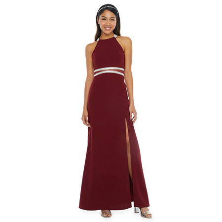 My Michelle Prom Sleeveless Fitted Gown-Juniors, 3 , Red