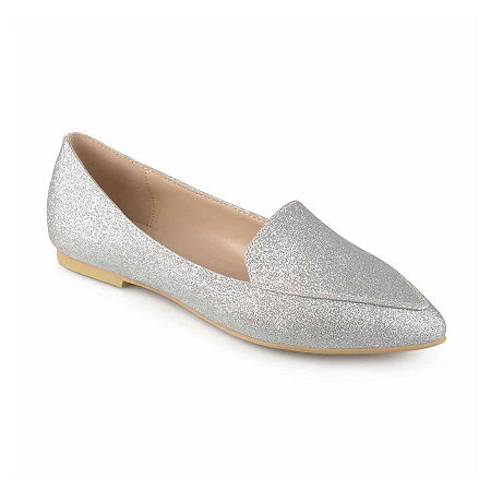 Journee Collection Womens Kinley Loafers, 12 Medium, Silver