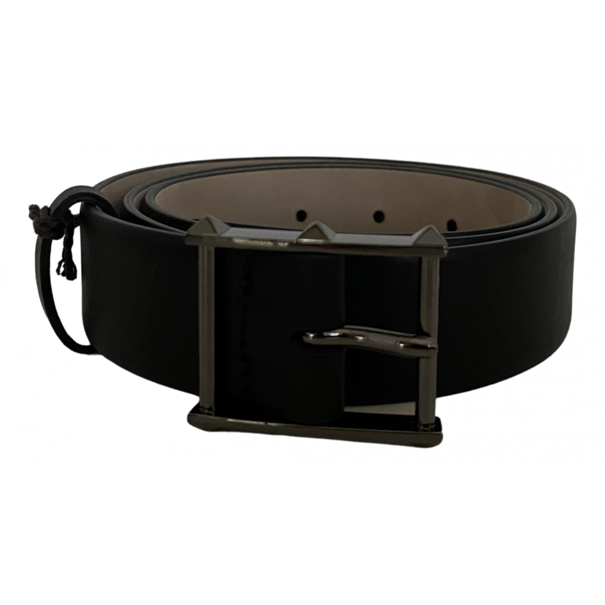 Valentino Garavani \N Black Leather belt for Men 90 cm