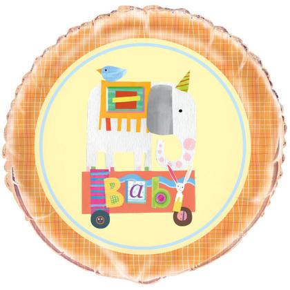 Foil Circus Animal Baby Shower Balloon, 18