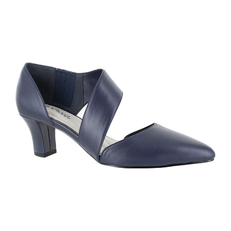 Easy Street Womens Dashing Pumps Spike Heel, 10 Medium, Blue