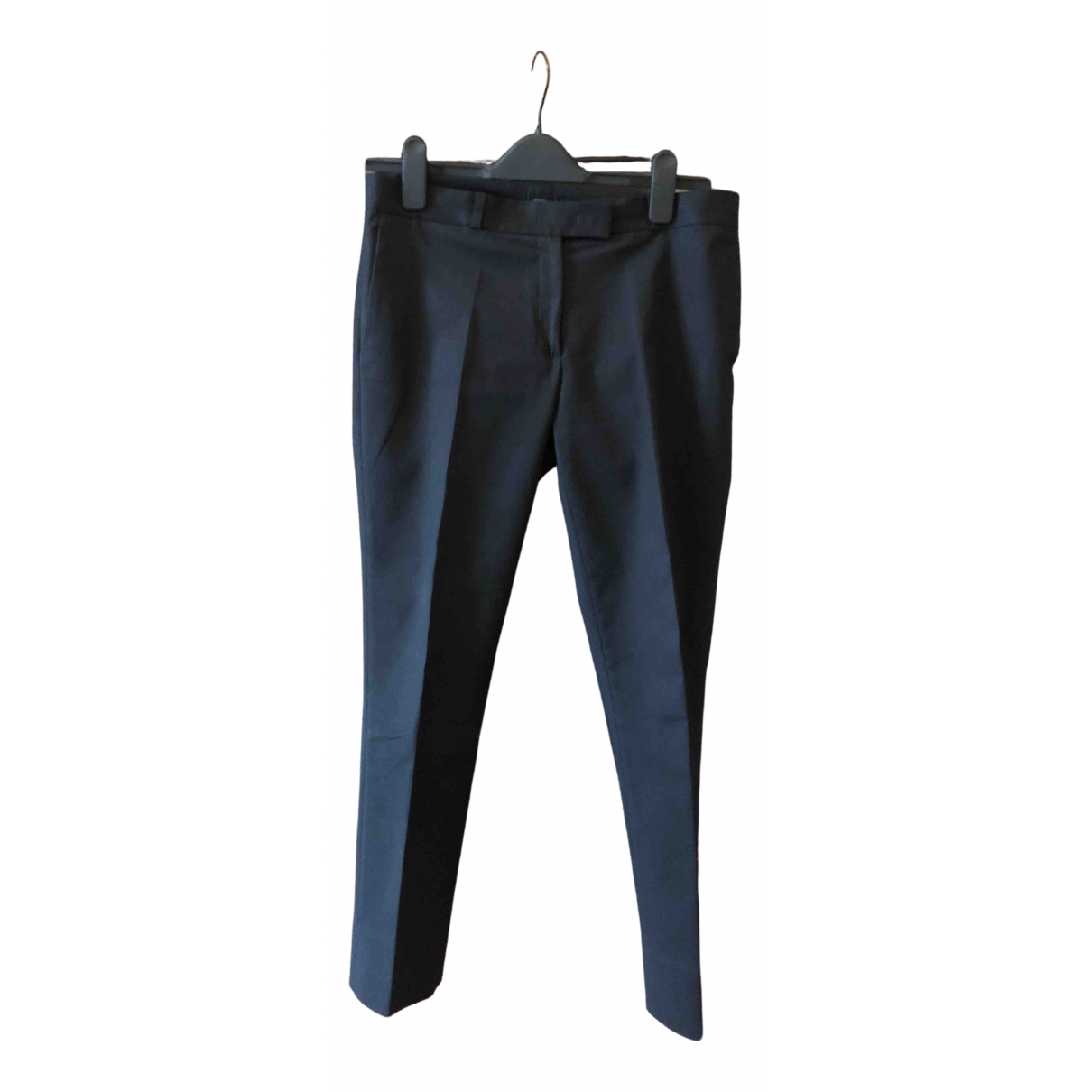 Joseph \N Black Cotton Trousers for Women 32 FR