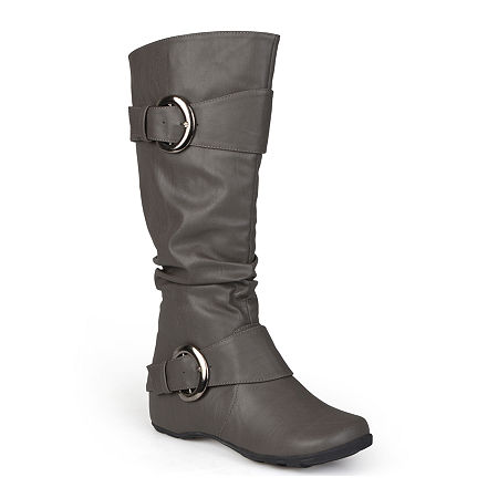 Journee Collection Womens Paris Slouch Riding Boots, 8 1/2 Medium, Gray
