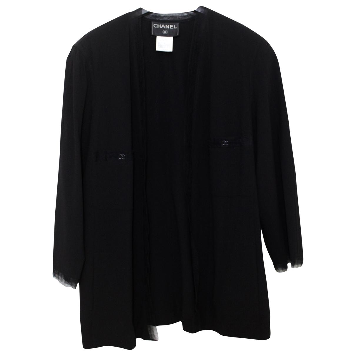 Chanel \N Black Wool jacket for Women 46 FR