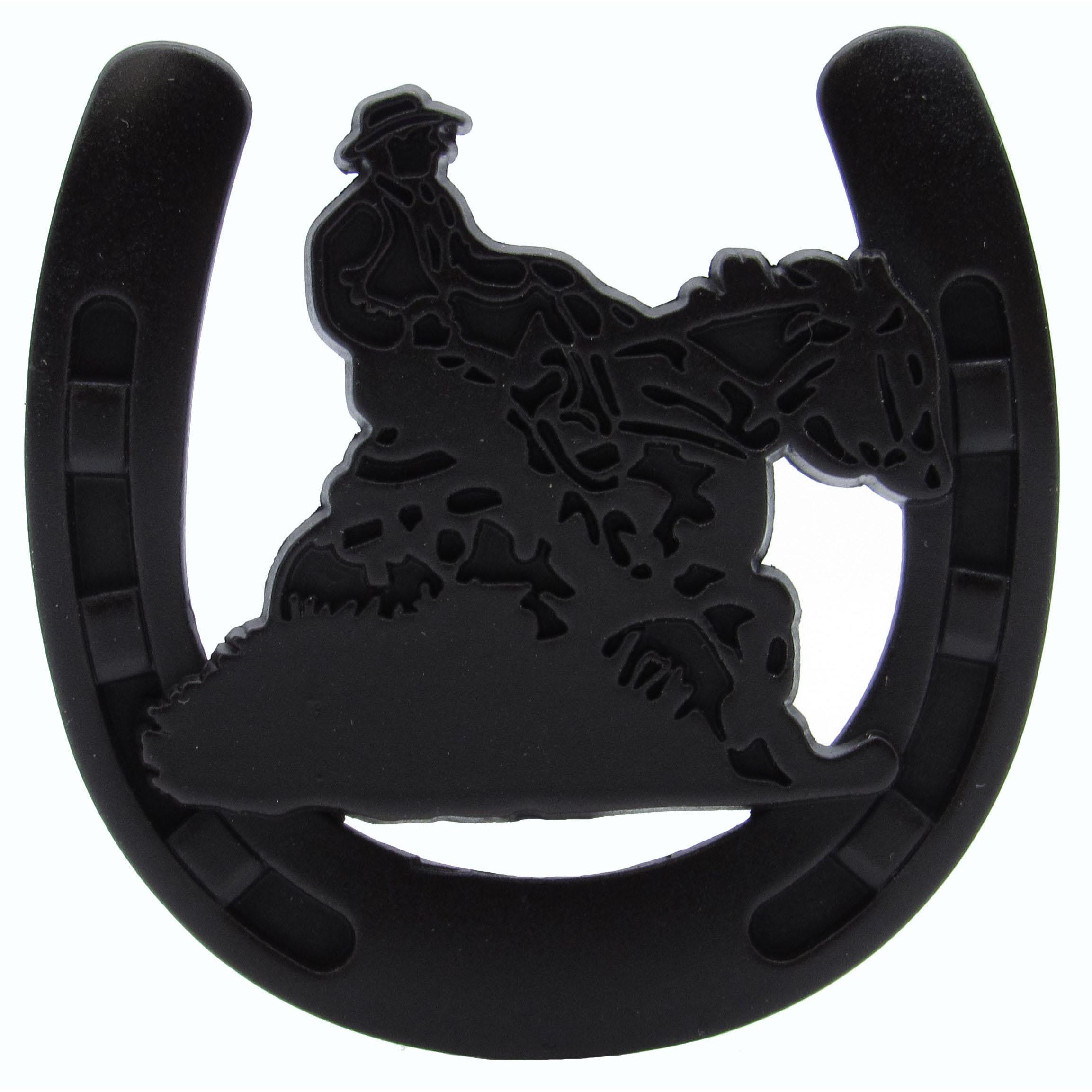 Riding Cowboy Horseshoe Knob, Oil Rubbed Bronze