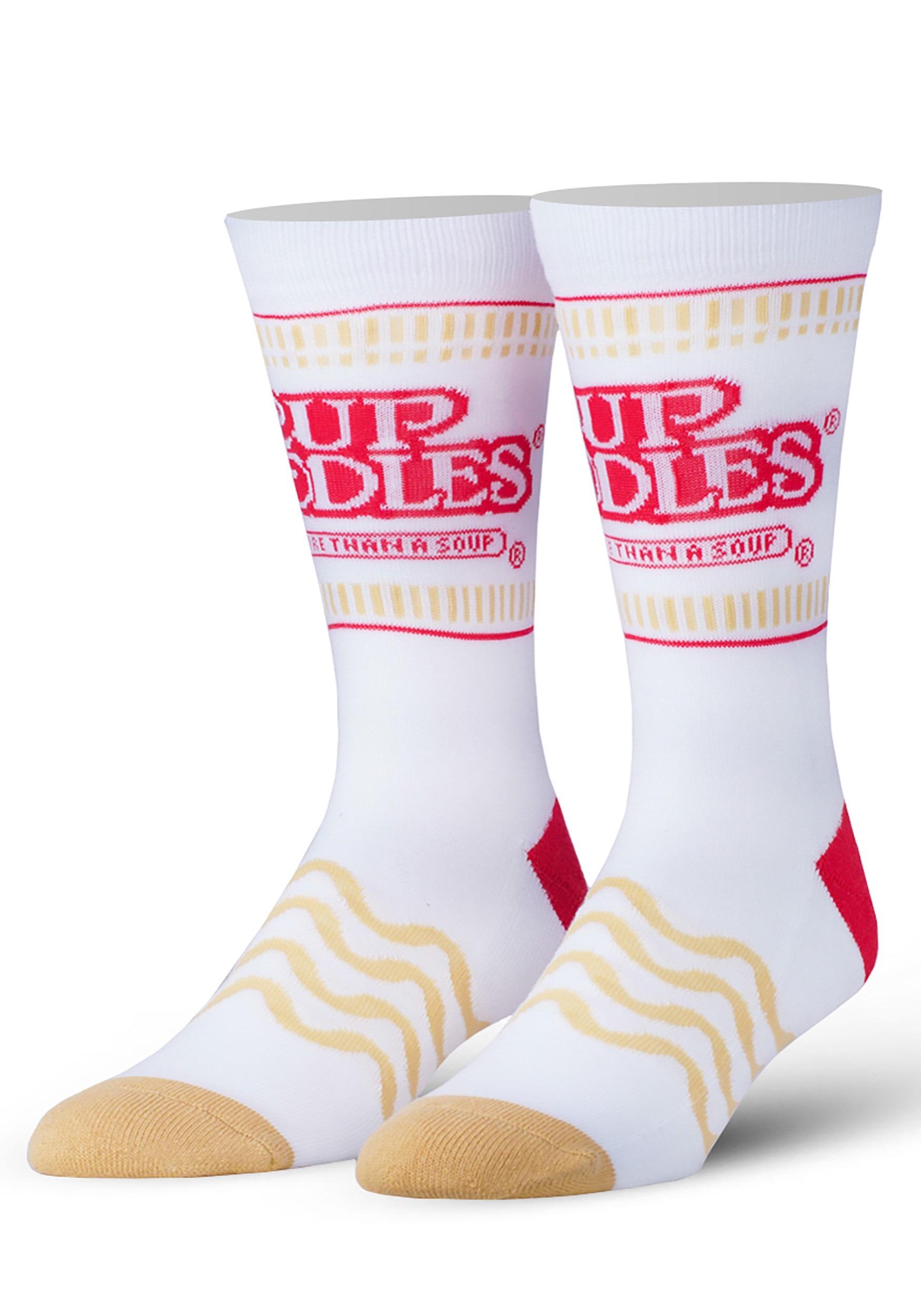 Odd Sox Cup Noddles Ramen Adult Knit Socks