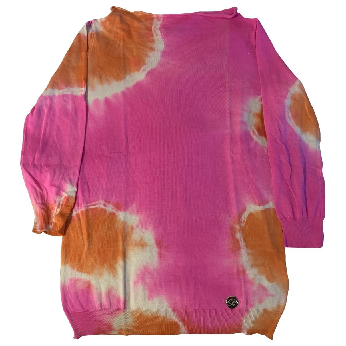 Blumarine \N Pink Cotton Knitwear for Women 38 IT
