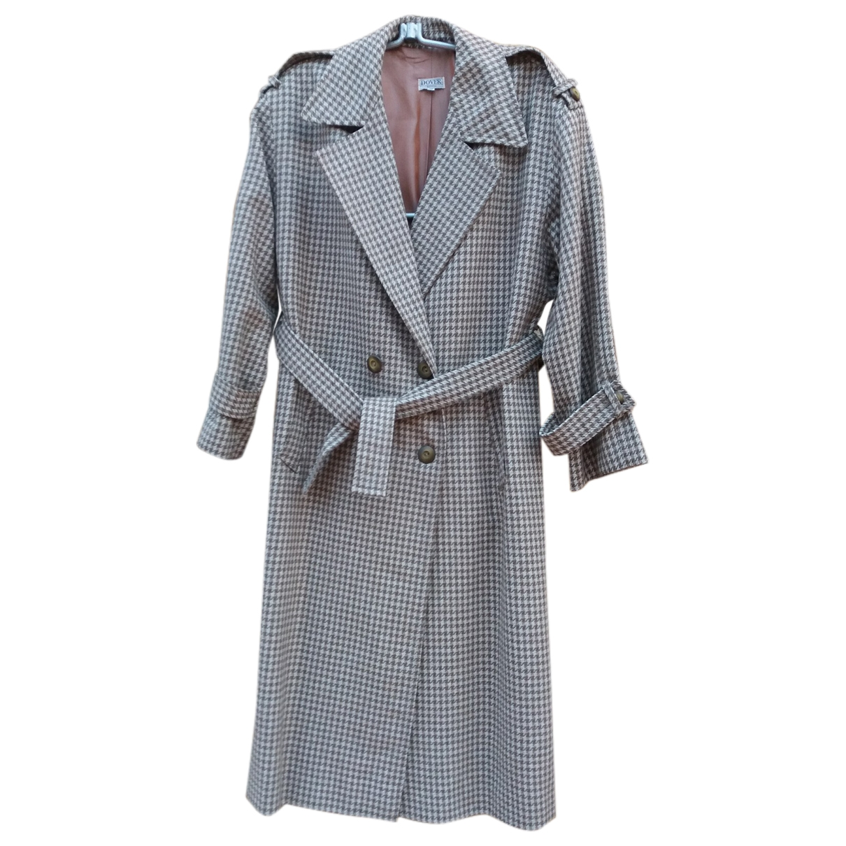 Non Signé / Unsigned Oversize Brown Wool coat for Women 40 FR