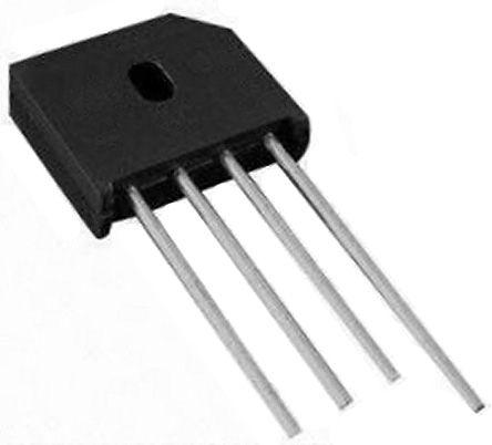 HY Electronic Corp KBU610G, Bridge Rectifier, 6A 1000V, 4-Pin KBU (20)