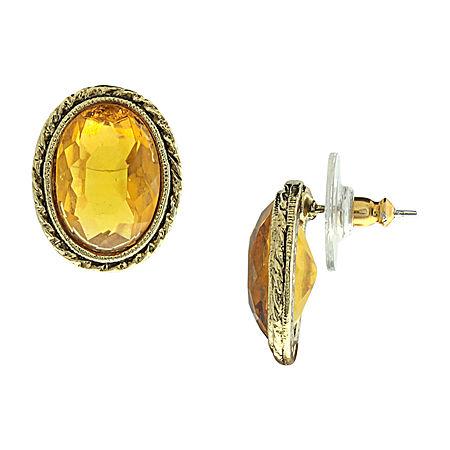 1928 Yellow Drop Earrings, One Size , Yellow