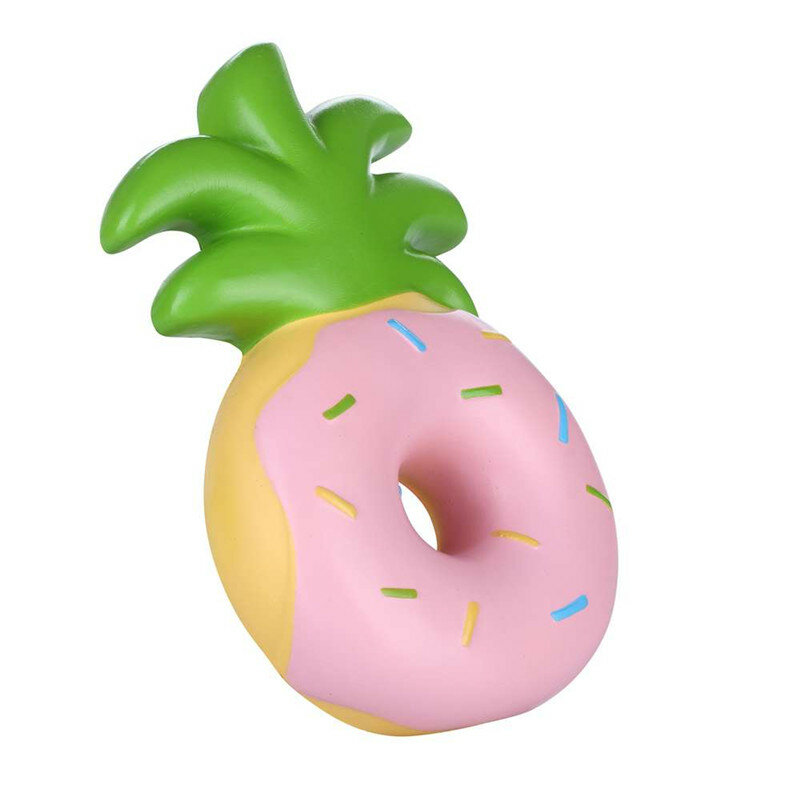 Vlampo Squishy Jumbo Pineapple Donut Slow Rising Original Packaging Fruit Collection Gift Decor Toy