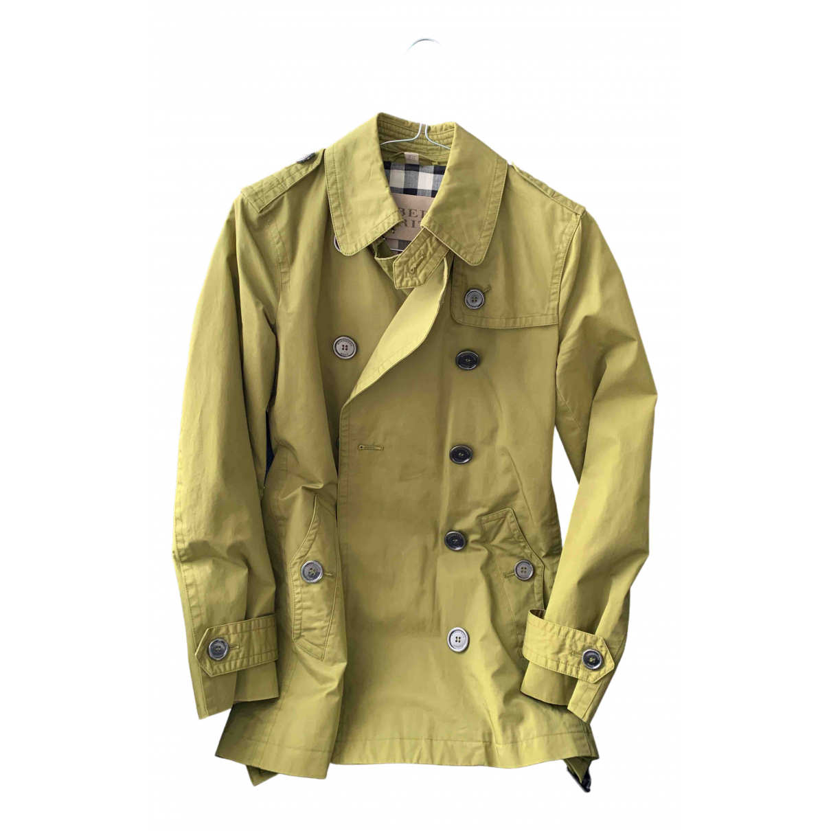 Burberry \N Green Cotton Trench coat for Women 4 UK