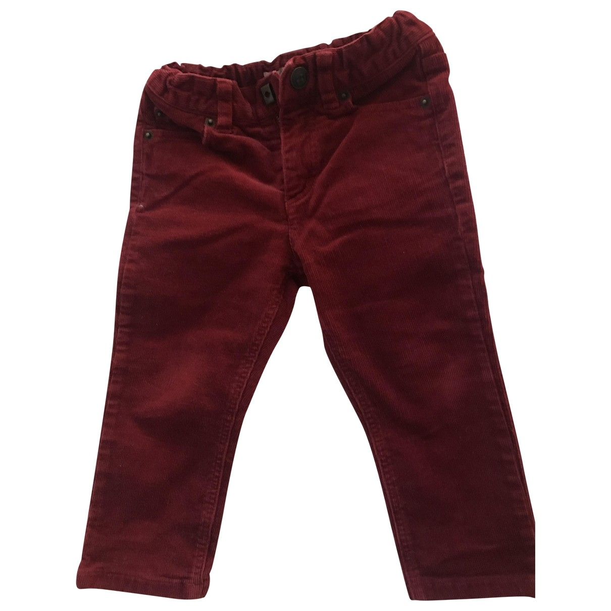 Bonpoint \N Red Velvet Trousers for Kids 18 months - up to 81cm FR