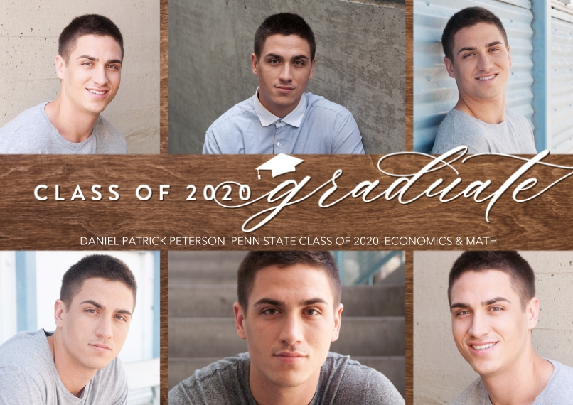 Graduation Announcements 5x7 Cards, Premium Cardstock 120lb with Rounded Corners, Card & Stationery -Class of 2020 Shiny by Tumbalina