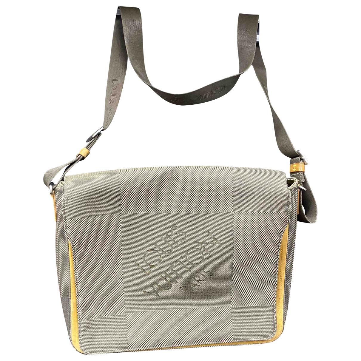 Louis Vuitton Terre Damier Geant Messenger Grey Cloth bag for Men \N