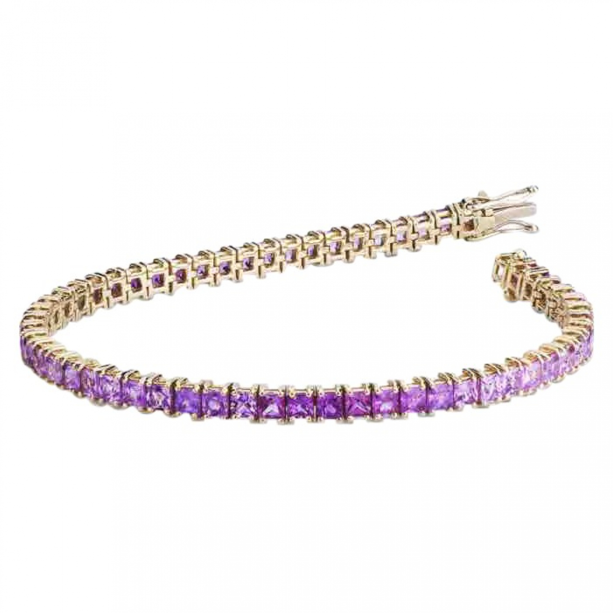 Non Signé / Unsigned Tennis Gold Yellow gold bracelet for Women \N