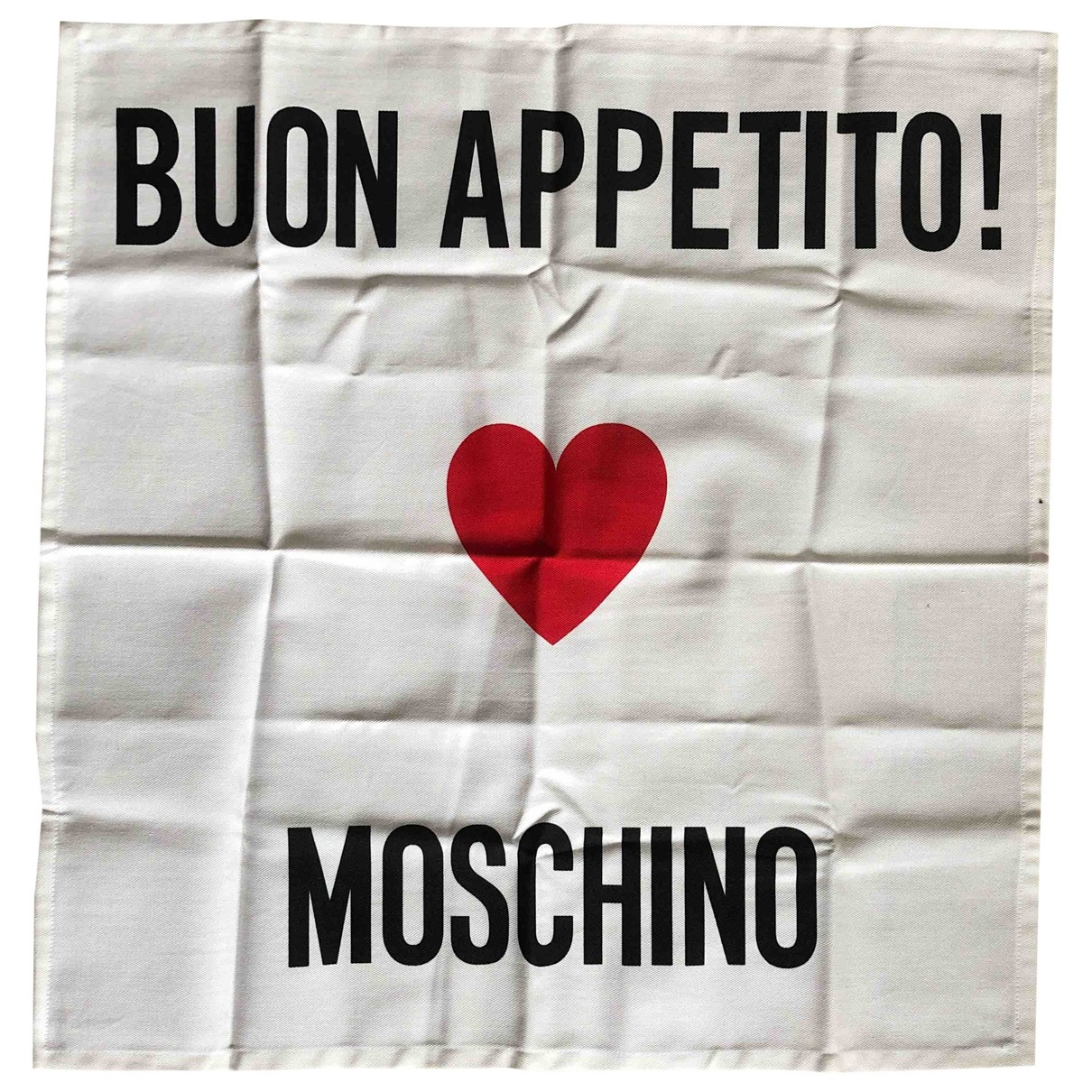 Moschino \N White Cotton Dinnerware for Life & Living \N