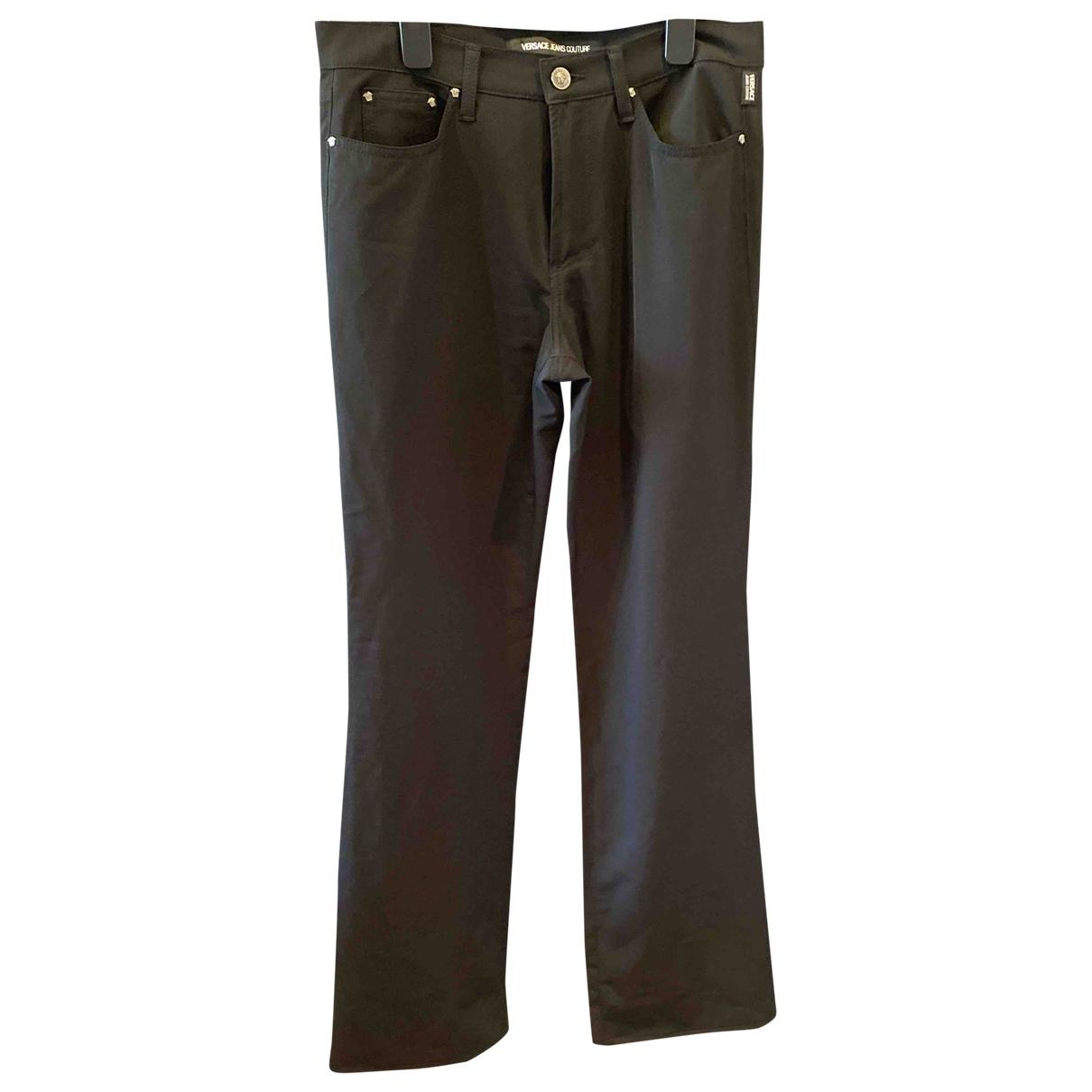 Versace Jeans \N Black Trousers for Women 44 IT