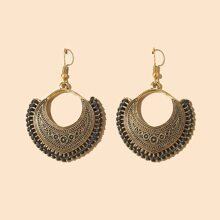 Threaded Geometric Drop Earrings