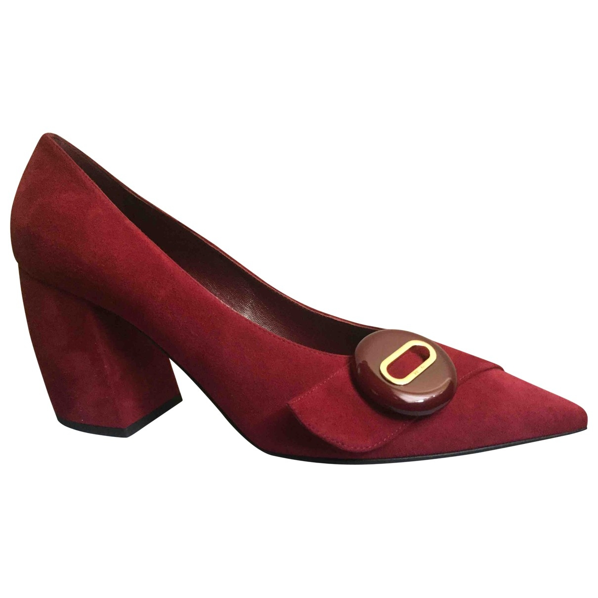 Prada \N Red Suede Heels for Women 40 EU