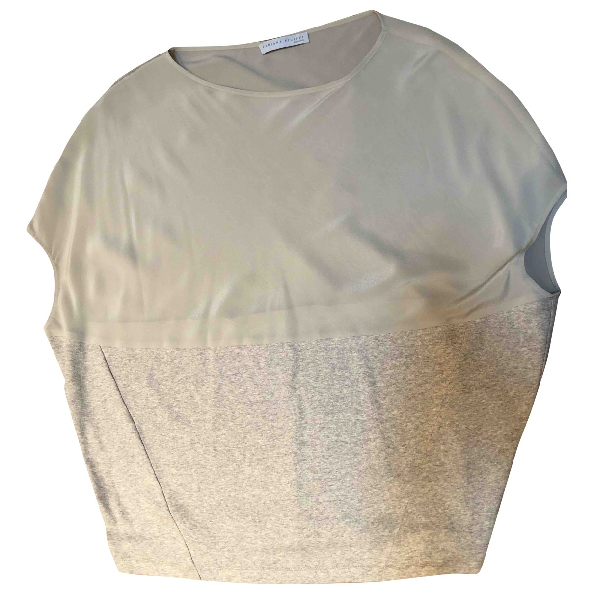 Fabiana Filippi \N Beige Silk  top for Women 44 IT