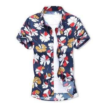 Leaf Allover Print Beach Shirt