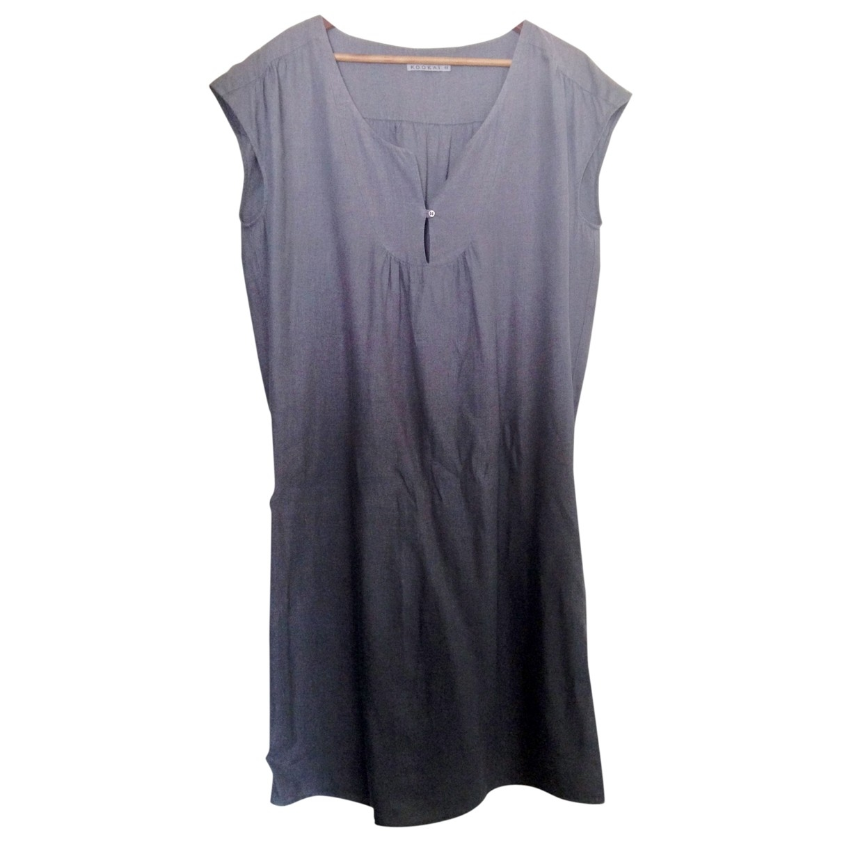 Non Signé / Unsigned \N Grey Linen dress for Women 44 FR