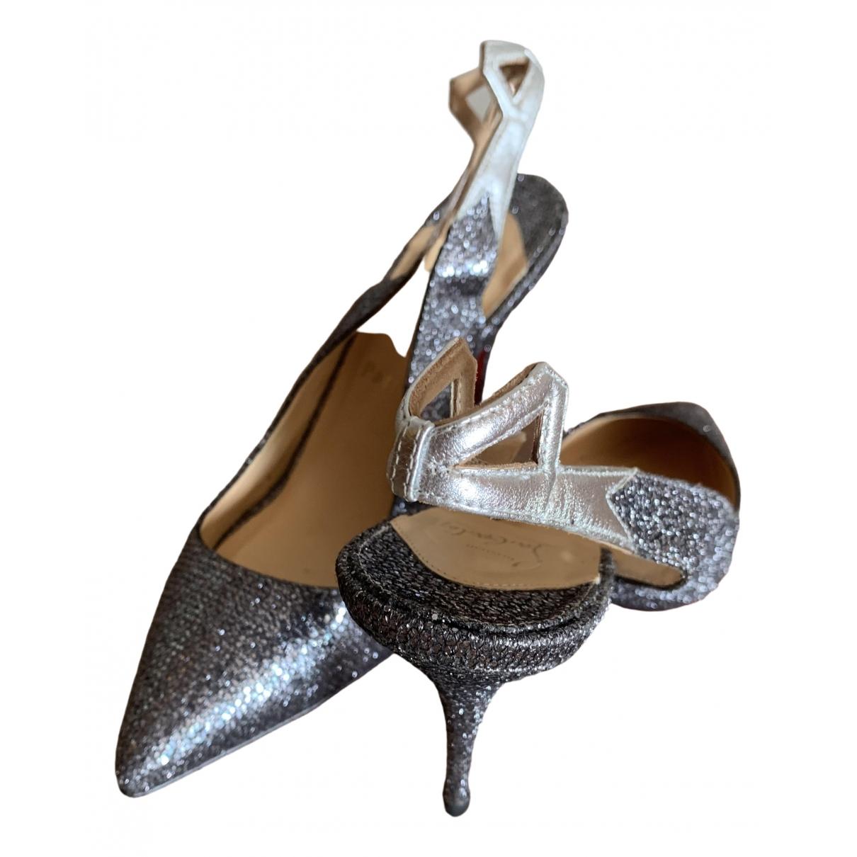 Christian Louboutin \N Grey Glitter Heels for Women 40 IT