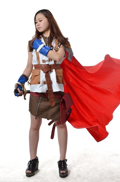 Milanoo Final Fantasy XIII Lightning Cosplay Costume Halloween
