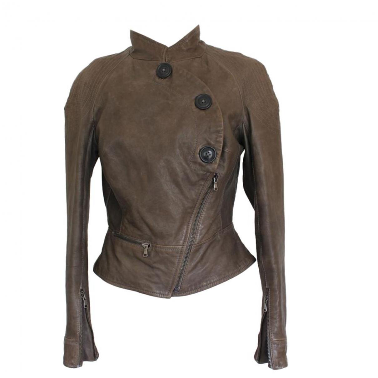 Vivienne Westwood \N Brown Leather jacket for Women 40 IT