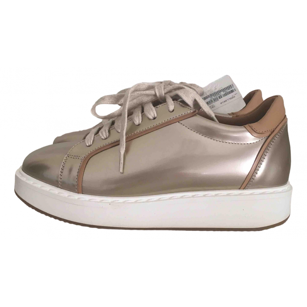 Brunello Cucinelli \N Gold Leather Trainers for Women 37.5 EU