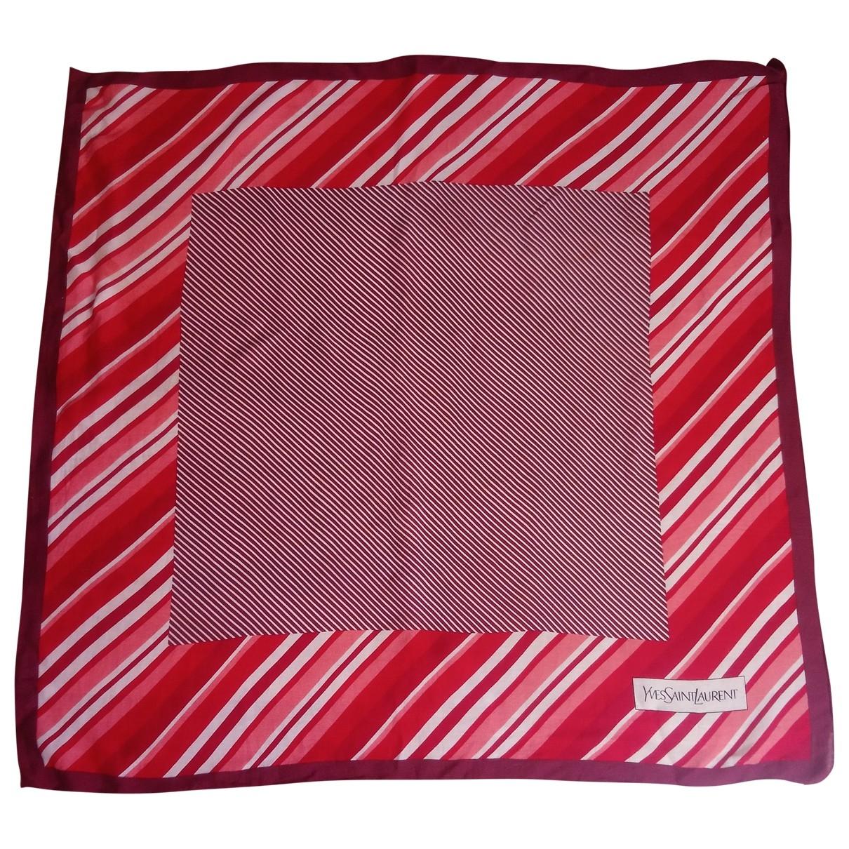 Yves Saint Laurent \N Red Silk scarf for Women \N