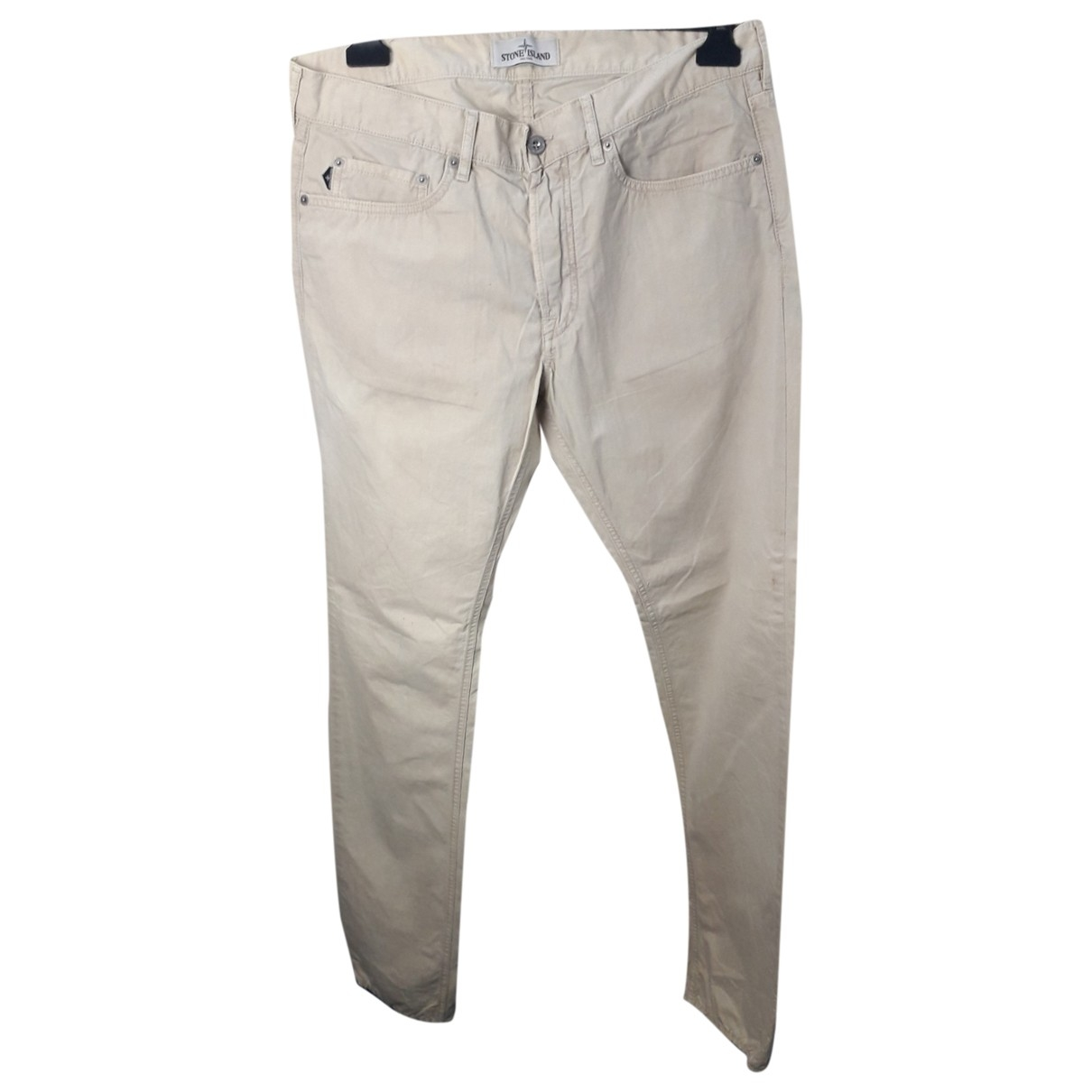 Stone Island \N Beige Cotton Trousers for Men 34 UK - US