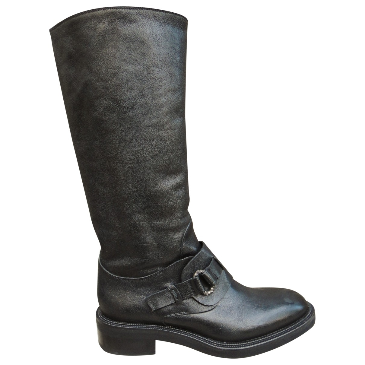Sartore \N Black Leather Boots for Women 35.5 IT