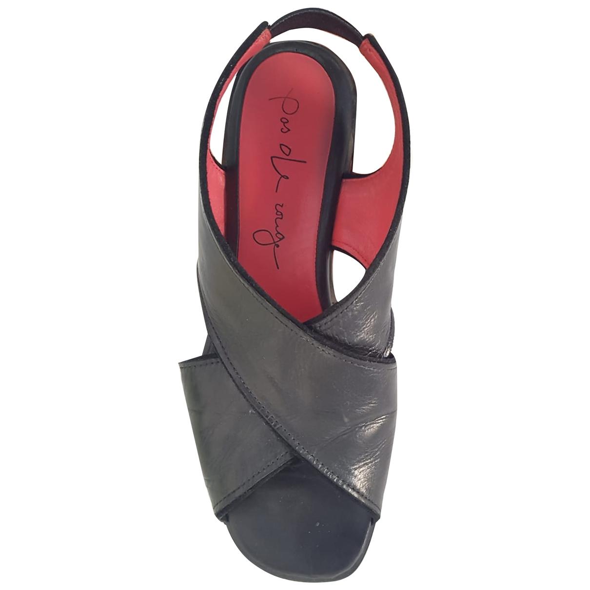 Non Signé / Unsigned \N Black Sandals for Women 38 EU