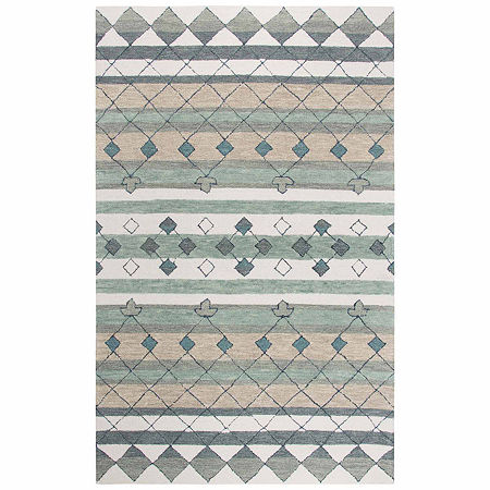 Rizzy Home Resonant Collection Taylor Stripe Rectangular Rugs, One Size , Gray