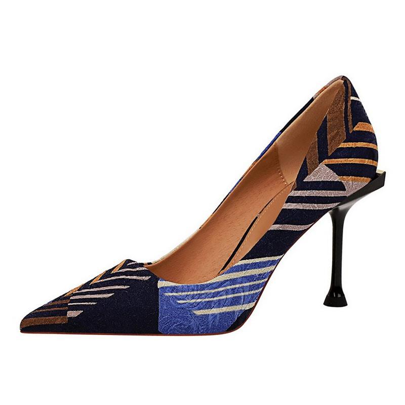 Ericdress Faux Suede Slip-On Pointed Toe Stiletto Heel Women's Pumps