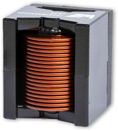 Wurth Elektronik 10 μH ±20% MnZn Leaded Inductor, Max SRF:17MHz, 20.6A Idc, 5mΩ Rdc, WE-HCFT (40)