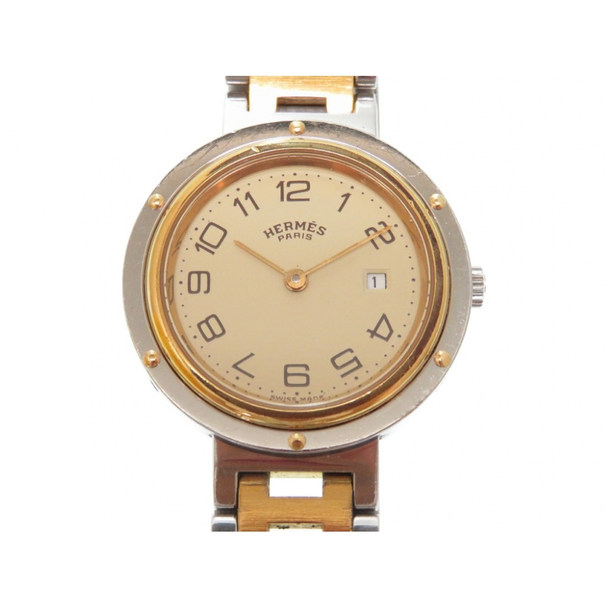 Hermès Clipper Silver Gold plated watch for Women \N