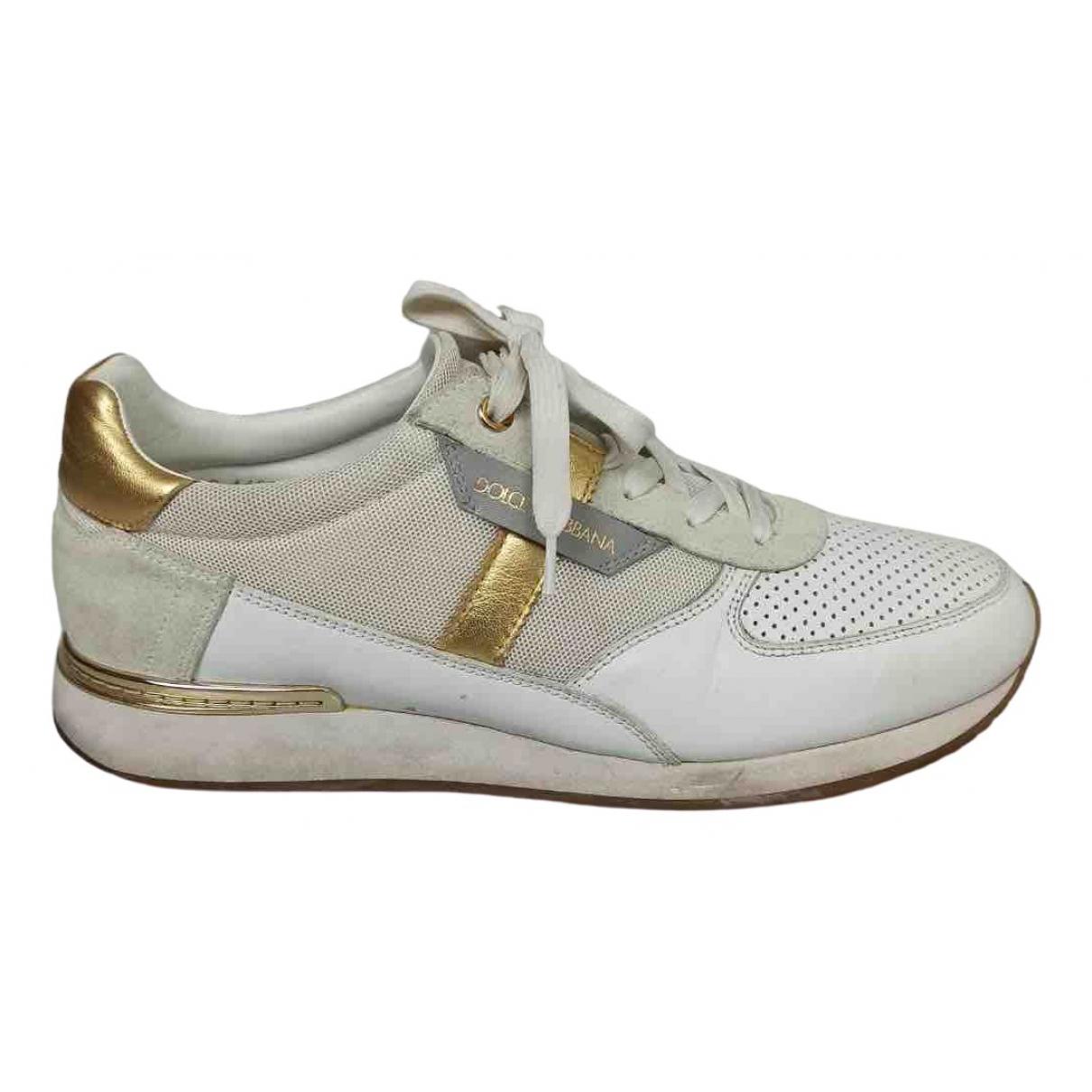Dolce & Gabbana \N White Cloth Trainers for Men 41 EU