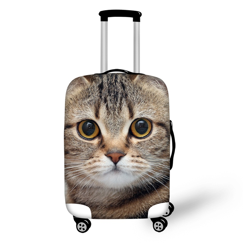 3D Animals Pattern Cat Waterproof Anti-Scratch Travel Luggage Cover