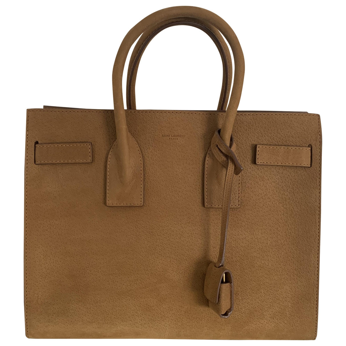 Saint Laurent Sac de Jour Brown Suede handbag for Women \N