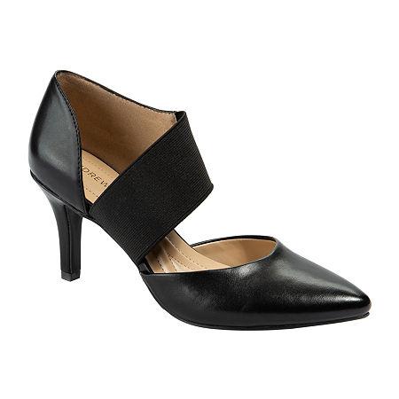 Andrew Geller Womens Maresa Pumps Cone Heel, 6 Medium, Black
