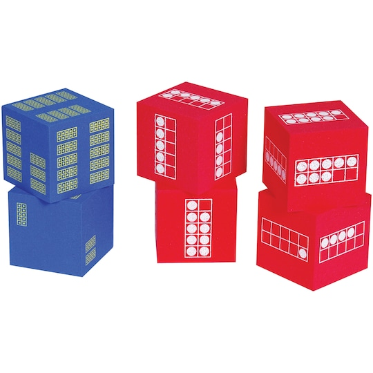 Learning Advantage™ Ten Frame Foam Dice, 6Ct. | Michaels®
