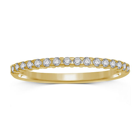 1/7 CT. T.W. Genuine Diamond 10K Yellow Gold Band Ring, 6 , No Color Family