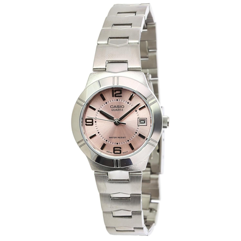 Casio Women's Core LTP1241D-4A Pink Stainless-Steel Analog Quartz Dress Watch