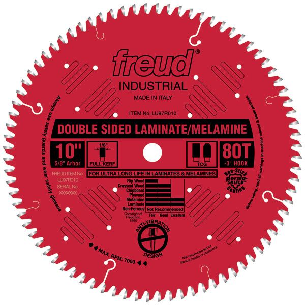 LU97R9010 Double Sided Laminated/Melamine Circular Saw Blade 10