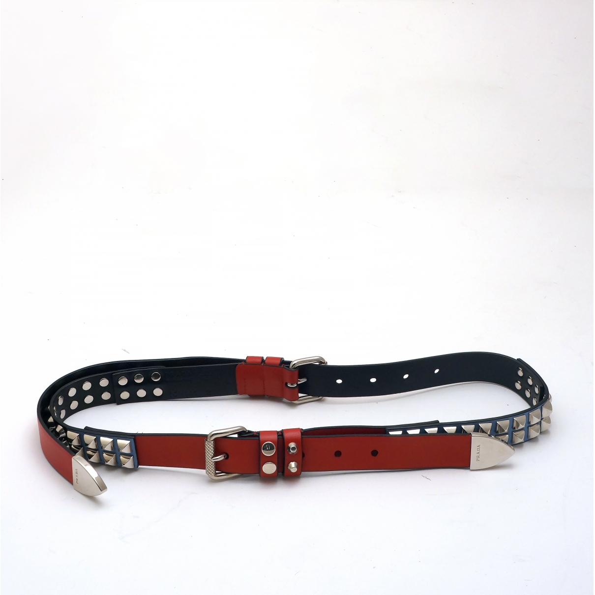 Prada \N Red Leather belt for Women 80 cm