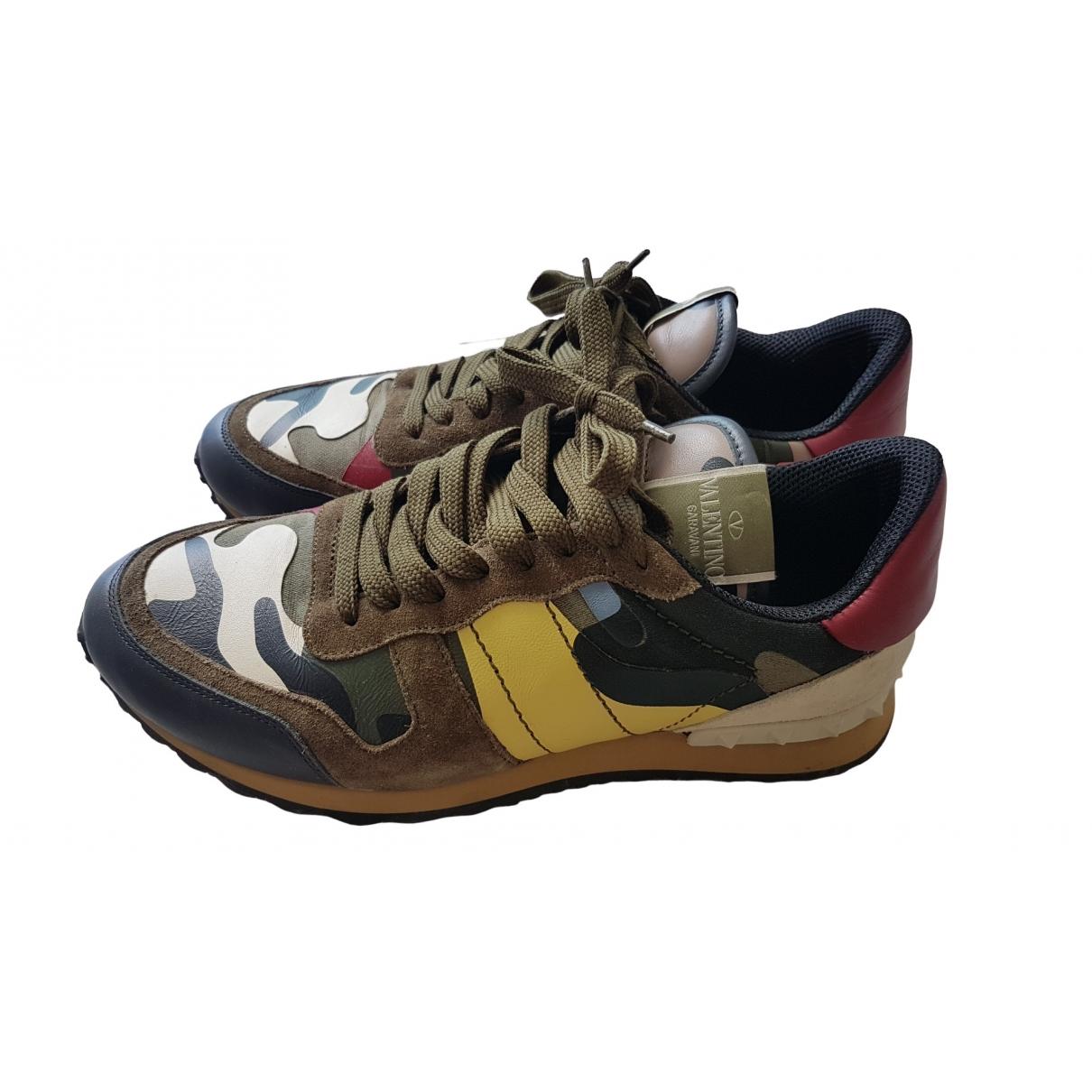 Valentino Garavani Rockrunner Multicolour Leather Trainers for Men 41 IT