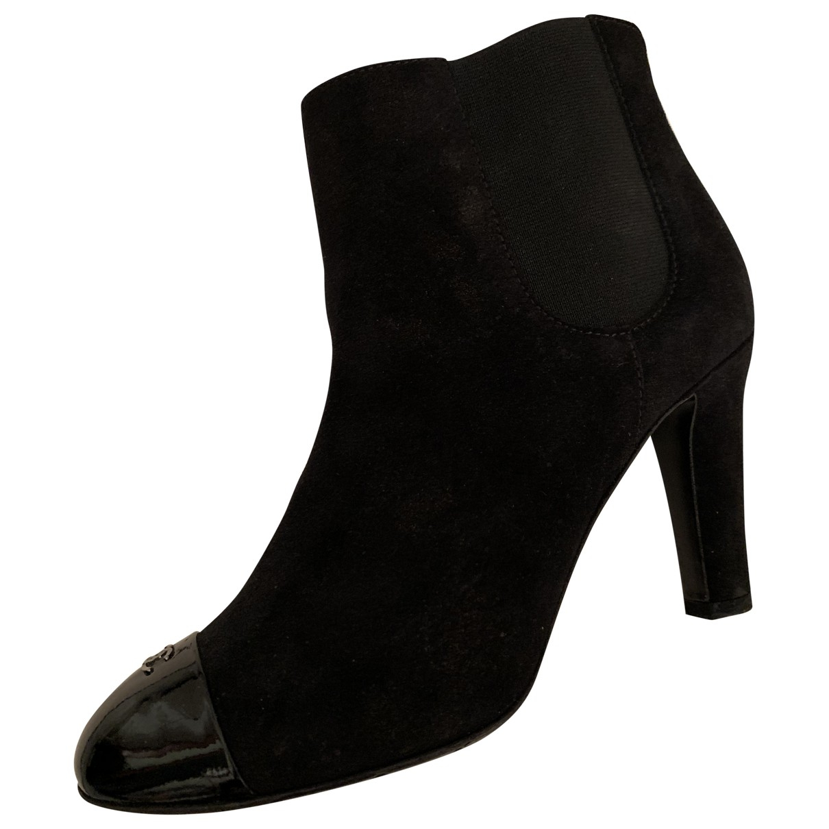Chanel \N Black Suede Ankle boots for Women 36 EU